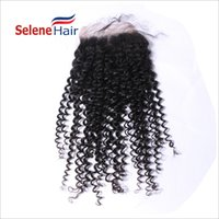 Wholesale Dyed Peruvian Lace Closure - 60% Off Peruvian Kinky Curly Full Lace Closure Free Middle Three Part Lace Closure Bleached Knots Unprocessed hair can be dyed