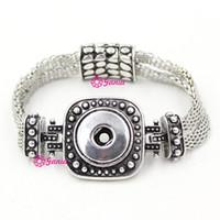 Wholesale bar bijoux resale online - 100 New Arrival mm Classic Chunks Snap Jewelry Metal Button Magnet Clasp Jewelry Snap bracelets for women Pulsera Bijoux