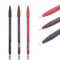 Wholesale Eyeliner Tattoo Pen - Free Shipping 1Pcs Embroidered Eyebrow Eyeliner Lipliner Tattoo Positioning Pen