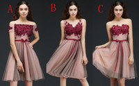 Wholesale Sexy Different Dresses - Stock Short A Line Homecoming Dresses V Neck Backless Cheap Homecoming Dresses with Appliques Crystal Cocktail Dresses Different Style 2017