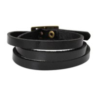 """Wholesale Cheap Leather Band Bracelet - Dorabeads Leather Wristbands Watch Bands Buckle 5 Holes Black about 60cm(24 3 8""""),1Pc Cheap wristbands id High Quality watch"""