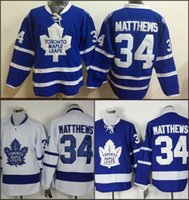 Wholesale Nhl Jersey Number - 2016 New NHL Toronto Maple Leafs Draft Mens Jerseys #34 Auston Matthews Blue Ice Hockey Jerseys 100% Stitched Name And Number