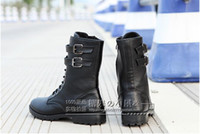 Wholesale Korean Flats Boots - Spring and autumn men's British Martin boots boots Gaotong boots long boots male Korean men's non-slip boots tide round