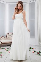 Wholesale Embroidered Pink Ivory Lace - free shipping ivory white Evening Dresses robe de soiree longue 2017 lace and chiffon prom beading Evening Gowns pregnant Celebrity dress