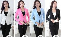 Wholesale Slim Suit Small - Spring Autumn New Leisure Small suit coat Thicken temperament OL Long sleeve Thin Slim Suit Women's Small Suit Size S-4XL