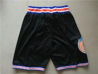 Wholesale Orange Pants Xxl - Wholesale Basketball Pant Space Jam Black White Basketball Shorts Tune Squad Men's Shorts New Breathable Sweatpants Teams Classic Sportswear