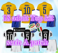 Wholesale Italy Dhl - DHL Wholesale 17 18 Italy home away Bonucci Dybala Higuain Mandzukic Marchisio Soccer Jersey 2017 Football Shirt Uniform Kits Soccer Shorts