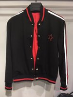 Wholesale Chest Slim - 2017 Autumn winter brand Chest embroidery pentagram Behind the letter Jacket Hip Hop Pullover Winter Jacket Men Coat fashion men Casual