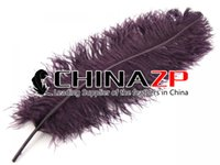 Wholesale Large Ostrich Feathers Wholesale - Wholesale in CHINAZP Factory Large Size from 22inch to 24inch (55-60cm) Unique Dyed Midnight Red Ostrich Feathers