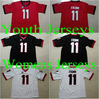 Wholesale Boys Rugby - Youth #11 Jake Fromm Kids UGA #27 Nick Chubb Red Black White Color #10 Eason #34 Herchel Walker #3 Todd Gurley II College Stitched Jerseys