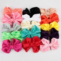 Wholesale Diy Bowknot Chiffon - Chiffon bowknot for Headbands Accessories Bowknot Flower For Baby Headbands DIY Flower for Hair Accessories Corsage Headdress BW026