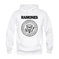 Wholesale Custom Printed Fleece - Wholesale-Men Cool Custom Design Ramones Popular Rock Hip Hop Print Casual Hoodies Sweatshirts Fashion Persionalized Special High Quality