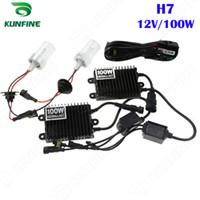 xenon far konvertör kitleri toptan satış-12 V / 100 W Xenon Far H7 HID Dönüşüm xenon Kiti Araba HID ışık AC balast ile Araç Far 3 Renk Için Sıcaklıklar