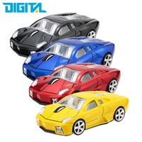 Atacado- Hot Sale 3D Wireless Mouse Sports Car Shaped 2.4Ghz Mouse Mouse Optical 1000DPI para PC Laptop Computer