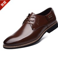 Wholesale Business Casual Sandals - Spring tip leather shoes for men business Dress Shoes Mens Casual leather sandals British wedding shoes tide hollow