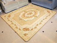Wholesale Persian Style Rugs - Floral Rug Modern European Style Classical Woven Carpets Living Room Bedroom Anti Slip Rugs Antibacterial Rose Carpet Coral Cashmere