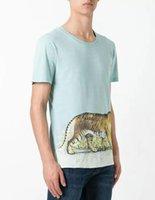 Wholesale T Shirt Plus Size Tiger - New Arrival 2017 Men T-Shirt tiger Print fashion Short Sleeve T Shirts Cotton tshirt Men Brand T-shirt Men Slim Plus Size XXXL T-Shirt