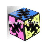 en iyi dişli hediye toptan satış-Toptan Satış - Meffert's Gear Shift Küp Beyaz / Siyah Parlak Sticker Eğitim Cubo Magico Oyuncak Hediyelik Fikir Ücretsiz Kargo Drop Shipping