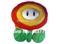 Wholesale Mario Plush Fire Flower - Super Mario Plush Doll Figure Ice&Fire Flower 15cm hot sale 1206#06