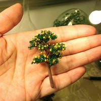 ingrosso piante di terrario-24 Pz / piccolo modello artificiale albero da frutto / miniature / piante carine / fairy garden gnome / moss terrarium decor / artigianato / bonsai / bottiglia da giardino