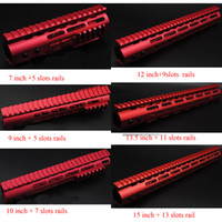 Wholesale Nut Steel - 7'' 9'' 10'' 12'' 13.5'' 15'' Red Rail Mount Keymod Handguard with Steel Barrel Nut Rail Fit AR-15   .223  5.56