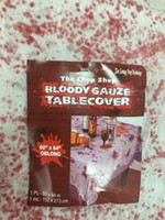 Wholesale Dot Tablecloth - Halloween Blood Dot Tablecloth Decoration Supplies Haunted House Terrorist Intimidation Scene Decorations Dance Pprops Background Dress