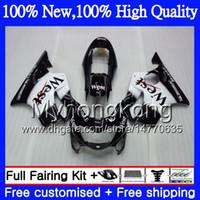Wholesale West Motorcycle Body Kit - Body Motorcycle For HONDA CBR600F4 CBR600 F4 99 00 FS Black west 44MY20 CBR 600F4 99 00 CBR600 FS CBR600FS CBR 600 F4 1999 2000 Fairing kit