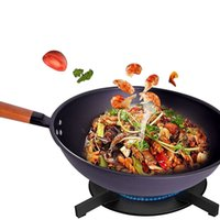 Wholesale Fried Deep - Non-stick Layer Pan Deep Wok Frying Pan High Quality Flat Bottom Cookware Use for Gas and Induction Cooker