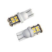 Wholesale Inverted Side Bulb - 20Pcs LED Car Light Bulb T10 W5W 20 SMD 1206 12V White 6000K LED Bulb Inverted Side Wedge Light Universal LED Lamp