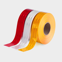 Wholesale Reflective Tape For Trucks - Hi-Visibility Reflective Conspicuity Tape For Truck Road Safety, PET Material 5cm*45.7m roll waterproof and Weather