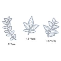 Wholesale 3 Leaves Metal Cutting Dies Stencils for DIY Scrapbooking photo album Decorative Embossing DIY Paper Cards