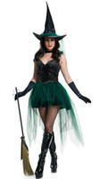Wholesale Adult Witches Halloween Costume - Adult Rubie's Dreamgirl Halloween Concepts Womens Sexy Witch Costume Fancy Party Cosplay Dress VLS6891 M,L