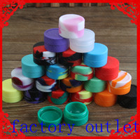 Wholesale Ego Cigarete Electronic - Non-stick silicone Wax Container 5ml 7ml containers tool storage oil Jars Concentrate Case for electronic cigarete ego-t cet best price