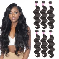 Wholesale Best Selling Hair Color - Top 10 Best Selling Products Brazilian Virgin Hair Body Wave Hair Weaves Remy Human Hair Extensions Mixed Length Wet Wavy Dyeable Wefts