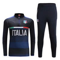 Wholesale Men S Suit Bags - Top free to send 17 18 Real Madrid football jacket suit 16-17 RONALDO JAMES BALE ISCO training clothes sweatshirt sportswear jogging bag