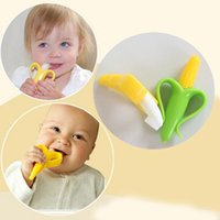 Wholesale Baby Banana Bendable Training Toothbrush - Wholesale-High Quality And Environmentally Safe Baby Teether Teething Ring Banana and Corn Silicone Training Bendable Toothbrush