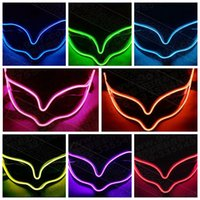 Wholesale Fox Decor - Luminous LED Mask Party Decor Fox Mask Glowing Festival LED Glowing Party DJ dance Halloween Party Mask CCA7420 100pcs