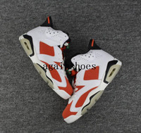 Alta Qualità dell'aria Retro 6 GATORADE Like Mike Summit Bianco / Nero-Team basket arancione Scarpe Uomo Donna 6s scarpa da tennis del pattino di sport Vendite online