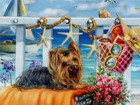 Wholesale unfinished embroidery - mural Crafts Embroidery mosaic Unfinished 3d Diamond Painting 5d diy Full diamond Cute dog Rhinestone home Decor cross Stitch