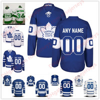 Wholesale Homes Toronto - Stitched Custom Toronto Maple Leafs mens womens youth kids OLD BRAND White Green Home Royal Blue 2017 Centennial Third Hockey Jerseys S-4XL