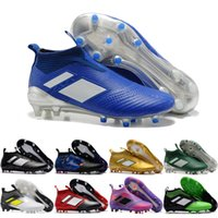 Wholesale Blackout Soccer Cleats - 2017 Cheap Online Wholesale New Arrivals 14 color Ace17+ Purecontrol Football Boots high quality blackout soccer Cleats cheap Soccer Shoes