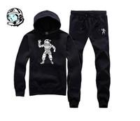 Wholesale Boys Camo Long Sleeve - Wholesale-Real ! US SIZE S-3XL camo galaxy astronaut bbc billionaire boys club jumpsuit mens tracksuit set jogging sweat suits for men