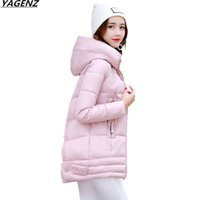 Caldo Sell Giacca invernale Parka Thicken Down Cotton Jacket Donna Cappotto Solid Color Hooded Casual Top Warm Female Basic Cappotti K622