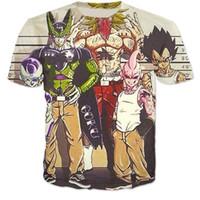 Wholesale Dragon Ball Cell - New Arrive Anime Dragon Ball Z 3d t shirt Goku Vegeta Cell Brolly Frieza DBZ t shirts Men's Harajuku tshirts tee shirts