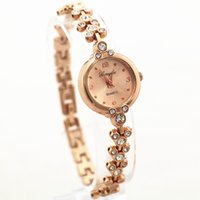 Wholesale gold plated ladies watches - Free shipping! mickey style design metal band,gold plating alloy round case,gold dial,gerryda fashion woman lady quartz bracelet watches