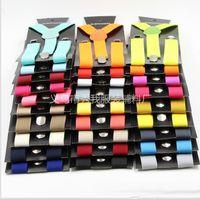 Wholesale Toddler Suspender Clips - Promotion Sale Kids Children Toddlers Suspenders 2.5cmx85cm Elastic Adjustable 3 Clips-on Y-Back Boys Girls 40 Colors DHL FREE SHIPPING