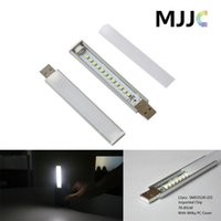 Wholesale Usb Power Tube - Super bright USB Portable Strip Night Light SMD3528 Mobile Power LED Tube 5v DC Protect Eyes for Dormitory Keyboard Reading