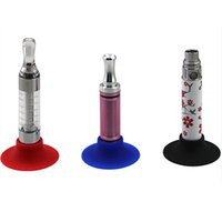 Wholesale Silicone Sucker Holder For Ego - Ecig Silicone Base Holder Ego Vape Battery Display Stand Atomizer Colorful Sucker For Holding E Cigarette Clearomizers Evod Batteries