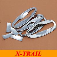 accesorios nissan x trail al por mayor-Para 2015 Nissan X-Trail X Trail XTrail ABS cromado manija de la puerta del coche Bowl exterior manija de la puerta cubierta del tazón Car Styling accesorios