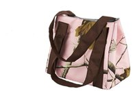 Wholesale 1Piece Pink Real Tree Lunch Bag Outdoor Cooking Bag BBQ Accessories Inches Oxford Bag